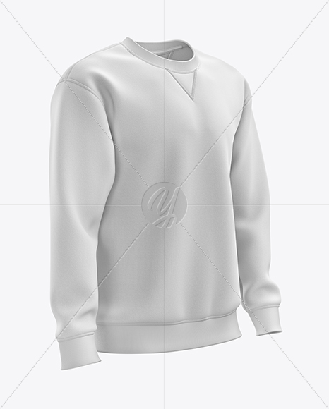 Men's Heavyweight Sweatshirt mockup (Right Half Side View)