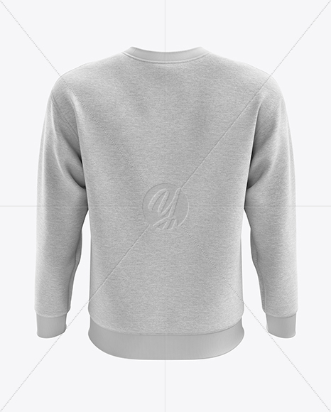 Men's Heather Midweight Sweatshirt mockup (Back View)