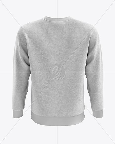 Men's Heather Midweight Sweatshirt mockup (Back View)
