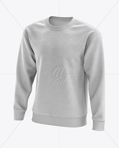 Men's Heather Midweight Sweatshirt mockup (Half Side View)
