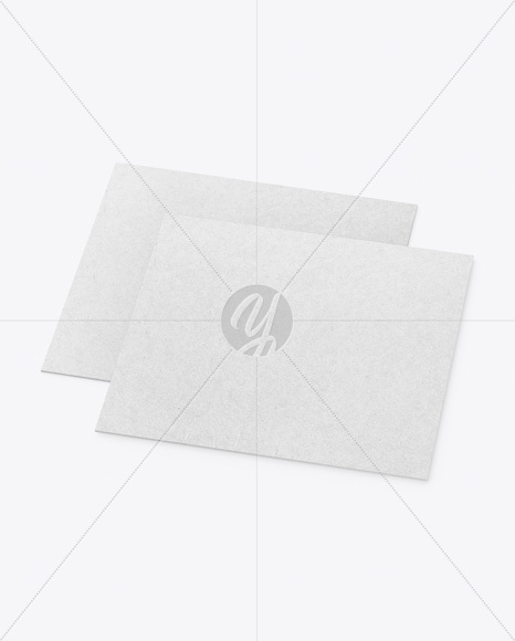 Two Kraft Business Cards Mockup