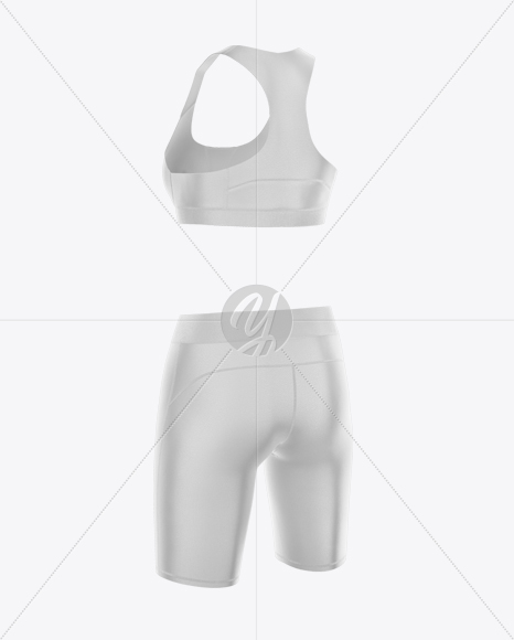Women's Fitness Kit Mockup - Half Side View