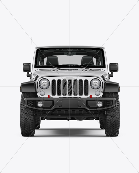 Off-Road SUV Open Roof Mockup - Front View - Yellowimages Mockups