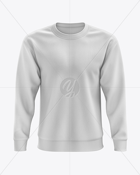Men's Midweight Sweatshirt mockup (Front View)