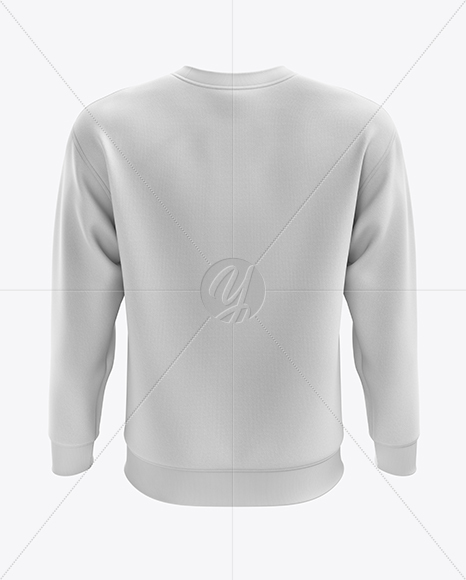 Men's Midweight Sweatshirt mockup (Back View)