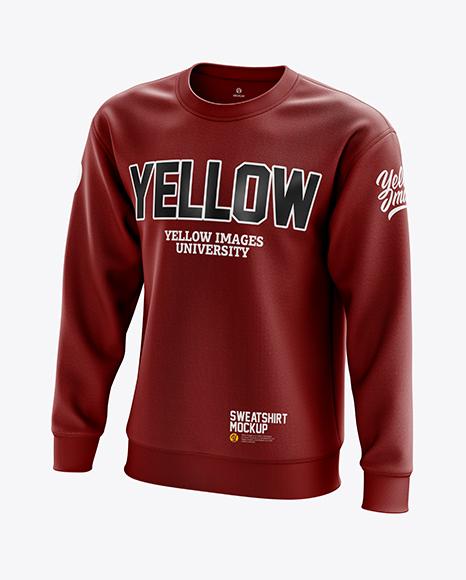 Men's Midweight Sweatshirt mockup (Half Side View)