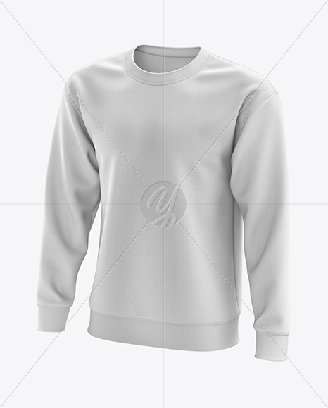 Men's Midweight Sweatshirt mockup (Half Side View)