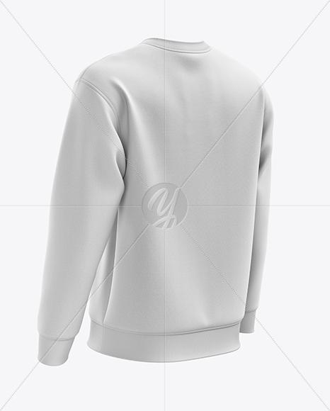 Men's Midweight Sweatshirt mockup (Back Half Side View)