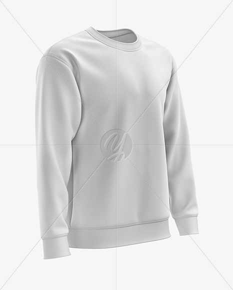 Men's Midweight Sweatshirt mockup (Right Half Side View)