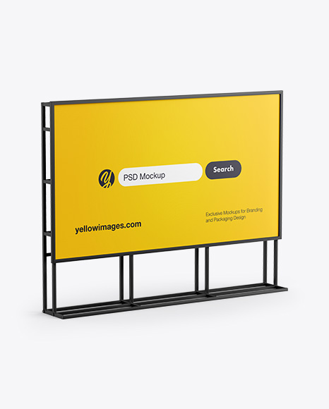 Banner Stand Mockup - Half Side View