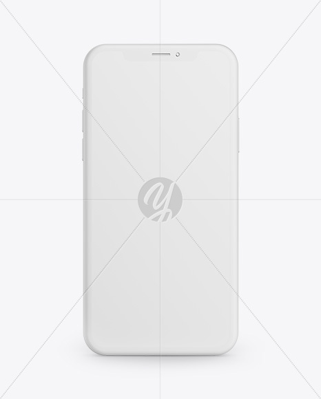 Clay Apple iPhone X Mockup - Front View