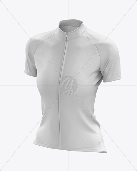 Women's Classic Cycling Jersey mockup (Half Side View)
