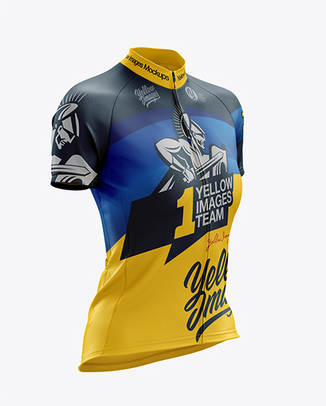 Women's Classic Cycling Jersey mockup (Right Half Side View)