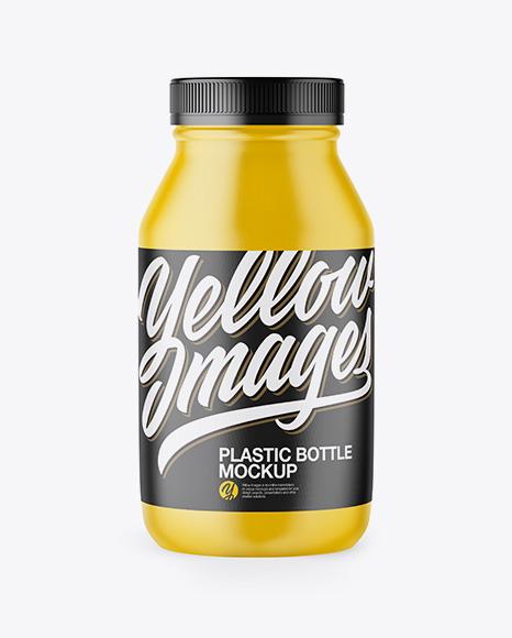 Matte Plastic Bottle Mockup - Front View