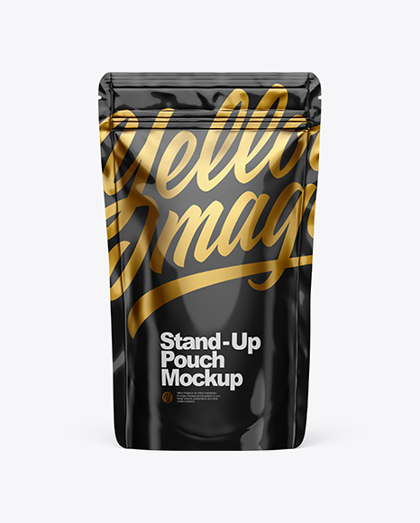 Glossy Stand Up Pouch W/ Zipper Mockup