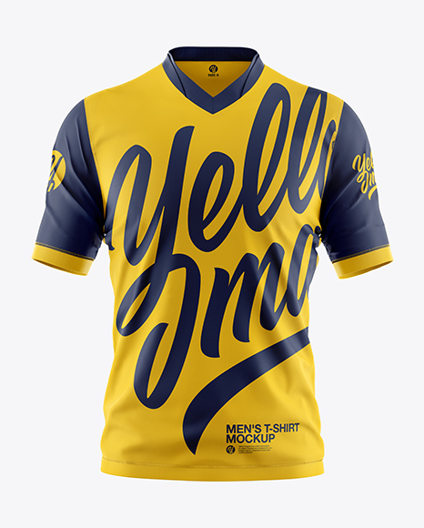Download Men S T Shirt Mockup In Apparel Mockups On Yellow Images Object Mockups Yellowimages Mockups