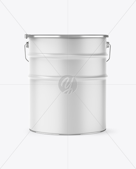 16L Matte Paint Bucket Mockup