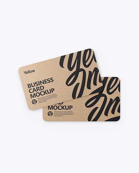 Kraft Business Cards Mockup