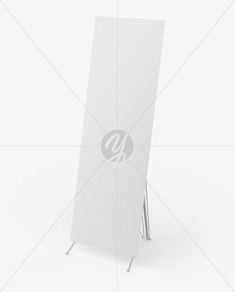 Metallic X Banner Mockup