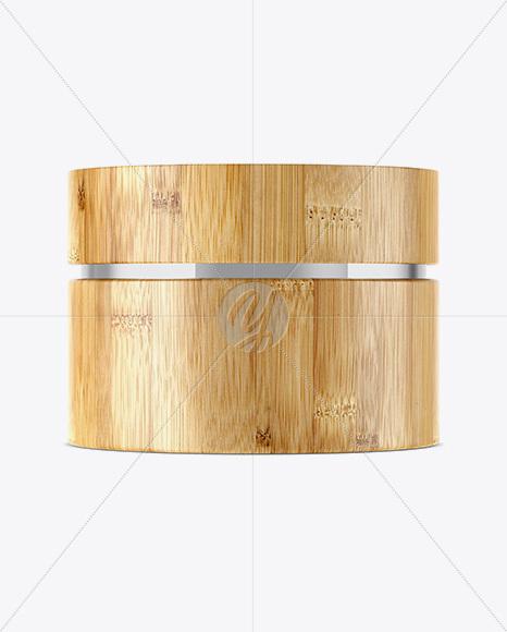 Cosmetic Bamboo Jar