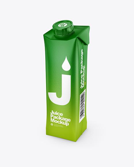 Download Matte Juice Carton Package PSD Mockup