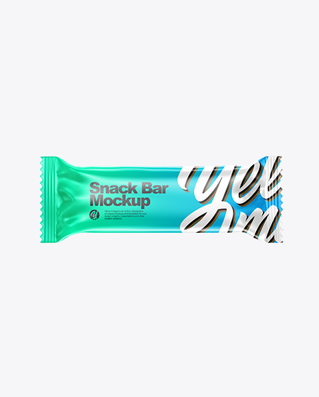 Download Glossy Snack Bar PSD Mockup