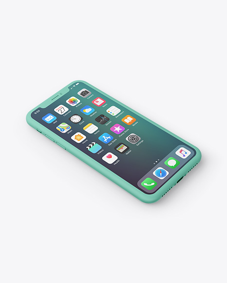 Download Clay Apple iPhone X PSD Mockup
