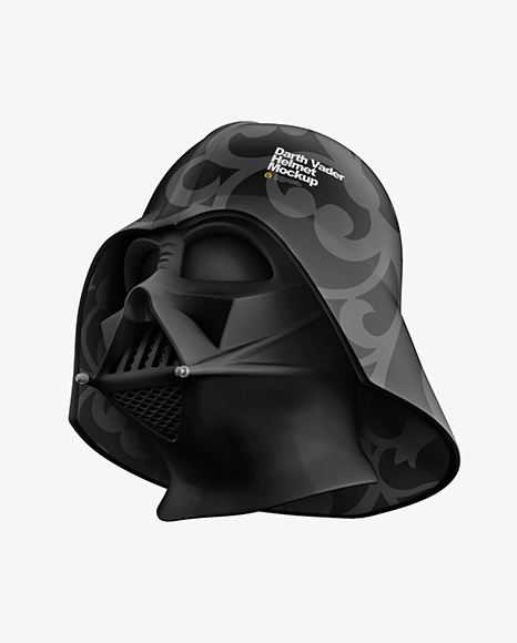 Download Matte Darth Vader Helmet PSD Mockup