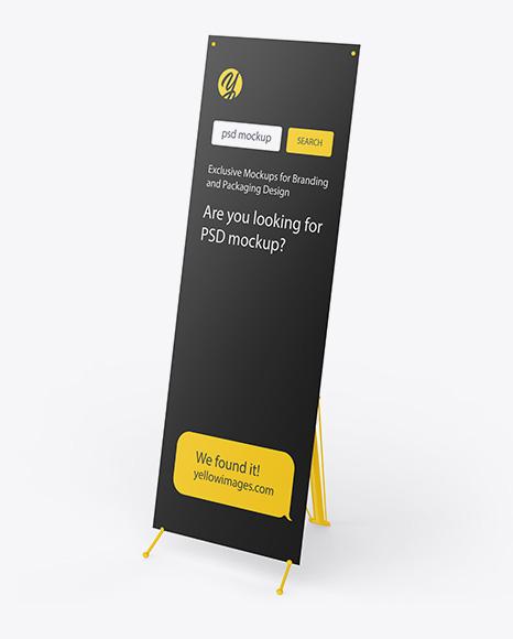 Download Plastic X Banner PSD Mockup