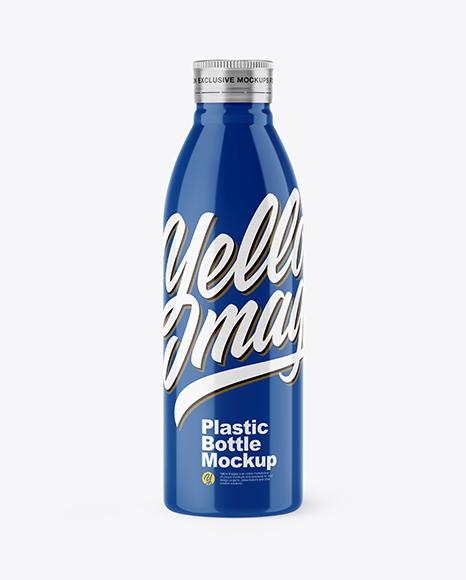 Download 500ml Glossy Bottle PSD Mockup
