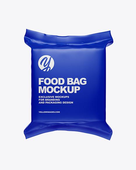 Download Matte Food Bag PSD Mockup