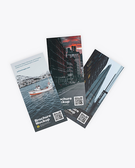 Download Three Brochures PSD Mockup