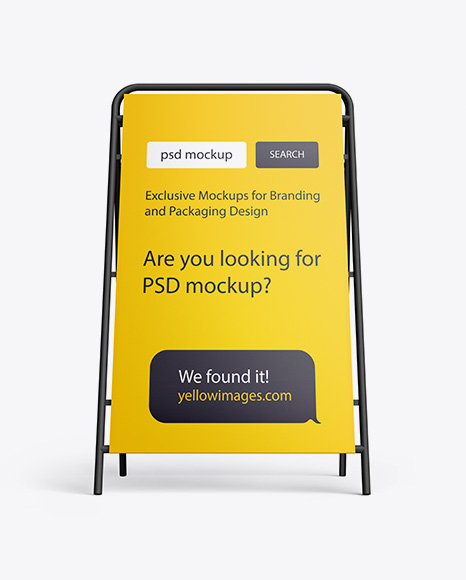 Download Matte Plastic Stand PSD Mockup