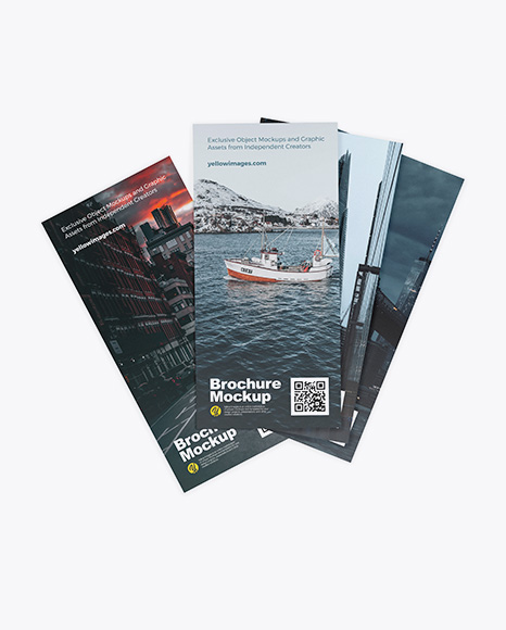 Download Four Brochures PSD Mockup