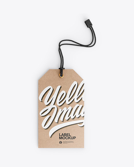 Download Kraft Label With Rope PSD Mockup