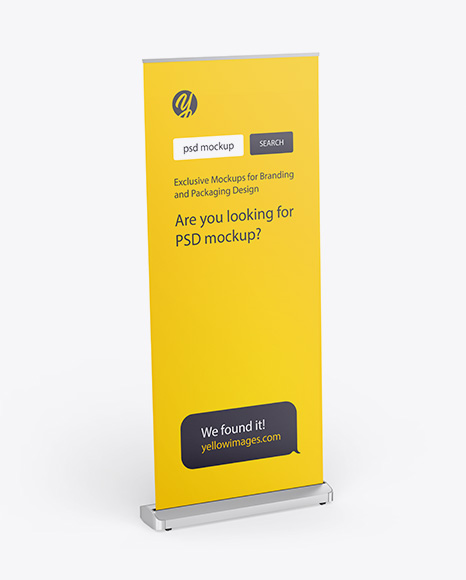 Download Matte Rollup Banner PSD Mockup