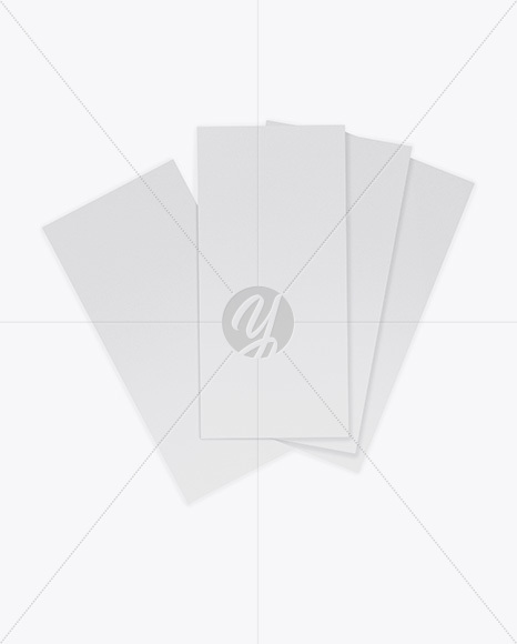 Four Textured Brochures Mockup