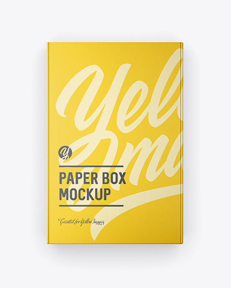 Download Paper Box Top View PSD Mockup
