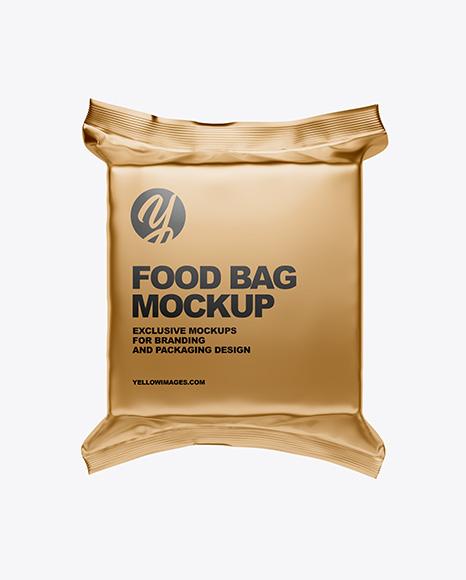 Download Metallic Food Bag PSD Mockup