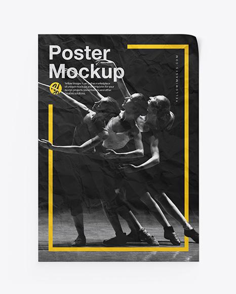 Download Crumpled Poster PSD Mockup