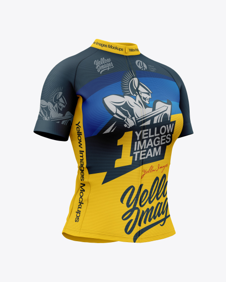 Download Women`s Cycling Jersey PSD Mockup