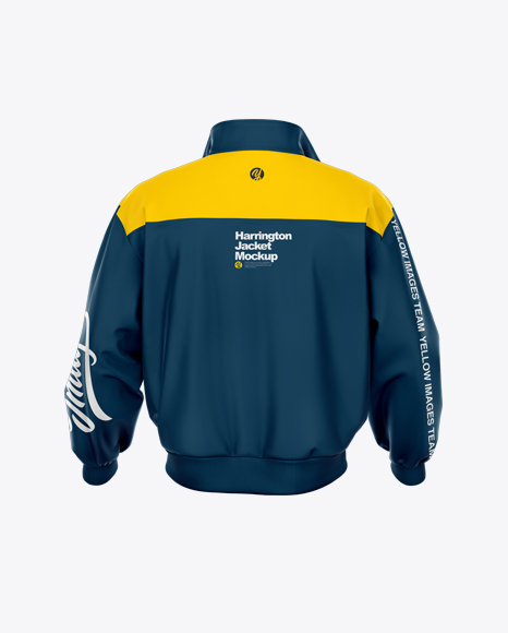 Download Mens Harrington Jacket Back View PSD Mockup