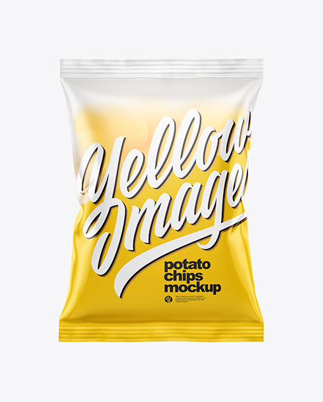 Download Frosted Bag With Corrugated Potato Chips PSD Mockup