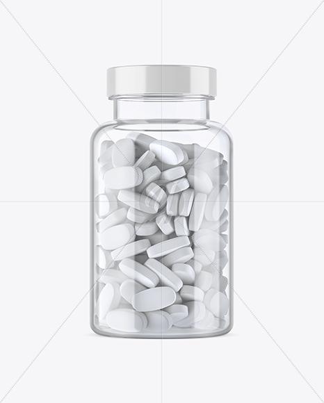 Clear Plastic Pill Bottle Mockup