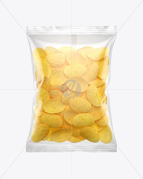 Bag With Potato Chips Mockup