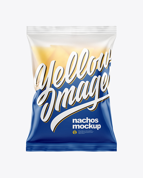 Download Frosted Bag With Nachos PSD Mockup