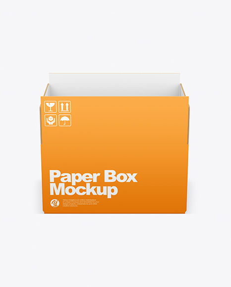 Download Opened Paper Box PSD Mockup