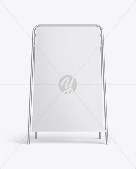 Glossy Metallic Stand Mockup