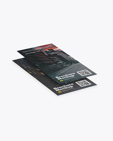 Two Textured Brochures Mockup