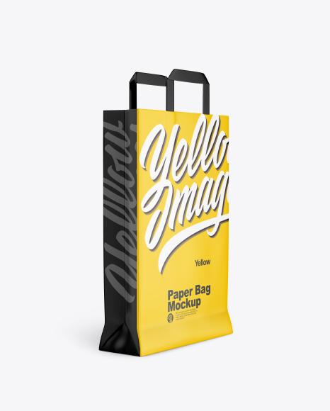 Download Glossy Paper Bag PSD Mockup